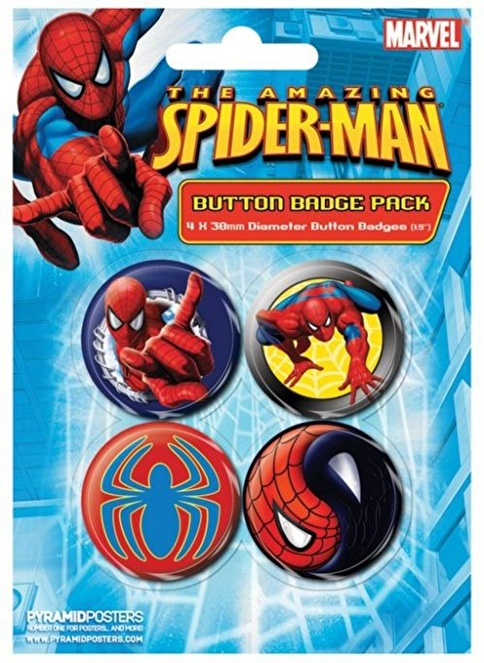 Pyramid International Rozet Seti - Spider-Man Wall Crawler Renkli